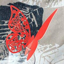 MagiDeal 50x Platzkarte Tischkarte Namenskarten Glasanhänger Weinglas Deko Farbewahl - #7