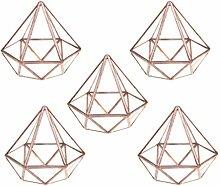 MagiDeal 5pcs Geometrisches Glas Terrarium Box