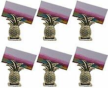 MagiDeal 6 Sätze Ananas tropische Tischkartenhalter Hochzeitsfest Dekoration