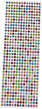 MagiDeal 6 Stück Mehrfarbiger Diamant Art Sticker