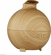 MagiDeal 600ml Holzdruck Sphärische Luftbefeuchter Aromatherapie Aromazerstäuber Diffusor Reiniger