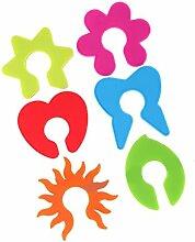 MagiDeal 6pcs Nett Kreis Tags Glaspotentiometer Marker Identifikator Tasse Stags Charme Bun