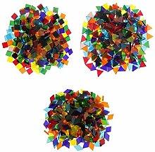 MagiDeal 750 Stücke Glas Mosaiksteine zum Mosaik