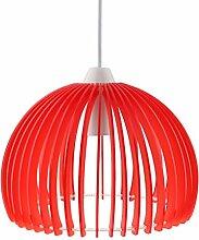 MagiDeal Acryl blätter DIY Puzzle Lampe Lampenschirm Deckenlampe Schirm - Farbe Auswählen - Ro