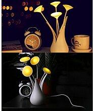 MagiDeal Acryl Vase Design USB LED Nachtlicht