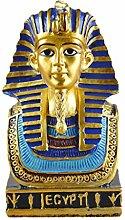 MagiDeal Alten Ägyptischen König Figuren Garten Haus Deko