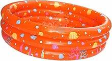 MagiDeal Aufblasbare Schwimmbad mit 3 Ring Paddeln Kinder Sommer Wasserspielzeug Spaß Spielzeug - Orange
