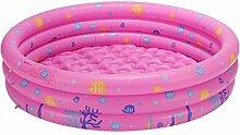MagiDeal Aufblasbare Schwimmbad mit 3 Ring Paddeln Kinder Sommer Wasserspielzeug Spaß Spielzeug - Rosa