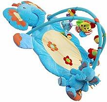 MagiDeal Baby Musik Spielmatte Playmat Aktivität Gym Mat Spielzeug Weiche Elefanten