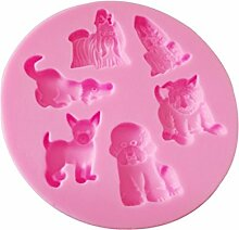 MagiDeal Bäckerei Fondant-Kuchenform Der Werkzeuge Verziert Tiere Formsilikonkuchenform