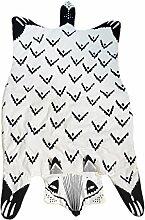 MagiDeal Baumwolle Kinder Teppich / Kinderteppich / Spielteppich unter Betthimmel Baldachin , Fuchs Tiger Design , 120cm