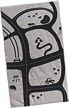 MagiDeal Baumwolle Kinder Teppich / Kinderteppich