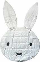 MagiDeal Baumwolle Rund Baby Kinder Teppich / Kinderteppich / Spielteppich für Reise Camping Outdoor , Kaninchen Design - Dünn