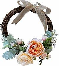 MagiDeal Blumenkranz Türkranz Blumen Kranz aus