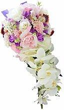 MagiDeal Brautstrauß Blumenstrauß künstlicher