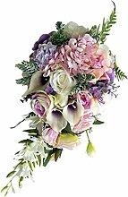 MagiDeal Brautstrauß Kunstblumen Künstliche