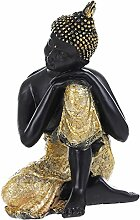 MagiDeal Chinesische Budda Sakyamuni Arhat Damo Meditation Skulptur Figuren Statue Resin Fengshui Dekoration - #6, 14*12*20cm