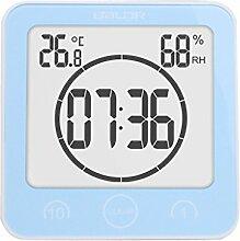 MagiDeal Digital LCD Badezimmer Wanduhr Uhr