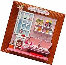 MagiDeal Diy Mini Puppenhaus Bilderrahmen Modell