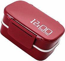 MagiDeal Doppelschicht Bento Box Lunch-Box mit