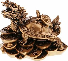 MagiDeal Drachenschildkröte Statue Figur Skulptur Wohnzimmer Büro Feng Shui Dekoration