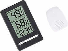 MagiDeal Drahtloses Thermometer Uhr, mit Innen
