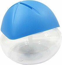 MagiDeal EU Stecker Mini Luftbefeuchter, Lufterfrischer , Pilzform Aroma Diffuser, 1000ml Kapazität - Blau