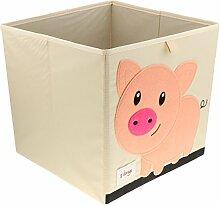 MagiDeal Faltbox 33x33x33cm Aufbewahrungsbox