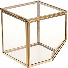 MagiDeal Geneigt Würfel Geometrisches Glas