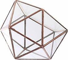 MagiDeal Geometrische Glas Schmuck Box Tisch