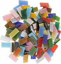 MagiDeal Glas Mosaik Fliesen für Kunst DIY