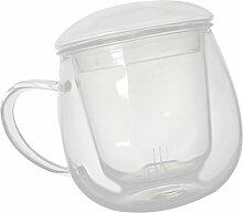 MagiDeal Glas Tasse mit Filter Teeglas Teebecher