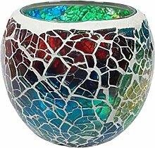 MagiDeal Glas Teelichthalter Kerzenhalter