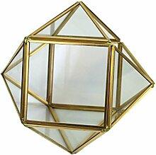 MagiDeal Glasterrarium Geometrisches Glas Sukkulente Pflanzgefäß Haus Dekoration -S
