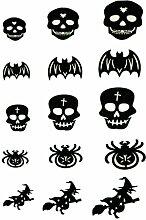 MagiDeal Halloween Sticker Aufkleber Set/5Blätter