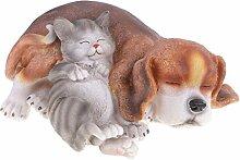 MagiDeal Harz Katze Hund Tierfigur Modell
