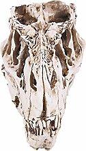 MagiDeal Harz T-rex Schädel Skelett Bar Dekor Figur für Sammlung Bar Dekor Weiß