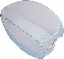 MagiDeal Hochwertiges Polyester , Faltbare Baby Kinder Moskitonetz Netz Insektenschutz für 0-2 Jahr Baby - Blau