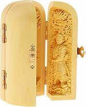 MagiDeal Holz Buddha Figur Dekofigur Feng Shui Dekoration für Haus oder Büro - #4