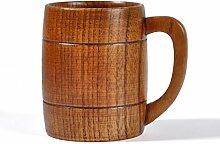 MagiDeal Holz Holzbecher Bier Milch Kaffee Getränk Cup Hochzeit Geschenk