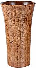 MagiDeal Holzbecher Deko-Becher Dekorationsbecher Trinkbecher Kaffeebecher Milchbecher - Braun, 7,5x13,5cm