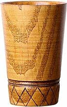 MagiDeal Holzbecher Deko-Becher Dekorationsbecher Trinkbecher Kaffeebecher Milchbecher - Braun, 11.5x7.8cm