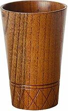 MagiDeal Holzbecher Deko-Becher Dekorationsbecher Trinkbecher Kaffeebecher Milchbecher - Braun, 7.8x11.5cm