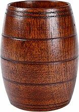 MagiDeal Holzbecher Deko-Becher Dekorationsbecher Trinkbecher Kaffeebecher Milchbecher - Braun, 10,5x8cm