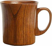MagiDeal Holzbecher Deko-Becher Dekorationsbecher Trinkbecher Kaffeebecher Milchbecher - Braun, 9.2x10cm