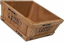MagiDeal Holzgarten Herb Pflanzer Topf Fenster Box Schreibtisch Schminken Aufbewahrungsbox Organzier - Trapez # 5