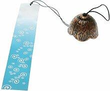 MagiDeal Japanisches Nanbu Iwachu Furin Windspiel, Geschenk zu Geburtstag, Valentinstag, Dekoration für Zuhause, Küche, Garten, Fenster - #6