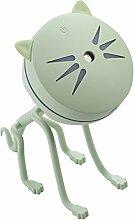 MagiDeal Katze Mini USB LED Luftbefeuchter Lufterfrischer Aroma Diffuser, 150ml Kapazität - Grün