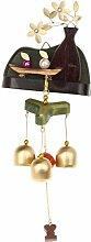 MagiDeal Klangspiel Windspiel - aus Holz - Vase Form - Hängen Deko - Weihnachtsdeko - Gartendeko