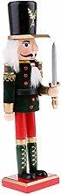 MagiDeal Klassischer Holz Nussknacker Solider Figuren Modell Puppe Spielzeug Wohnkultur Dekoration - 30CM - # 9